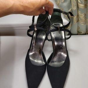 CK Calvin Klein 7.5.Black Stappy Heels
